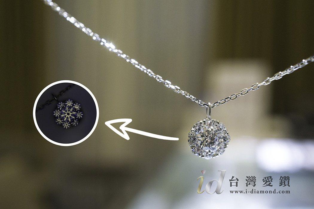 台灣愛鑽所銷售的每顆鑽石都有八心八箭、沒有黑點內含物,展現雋永璀璨,閃耀動人光彩...