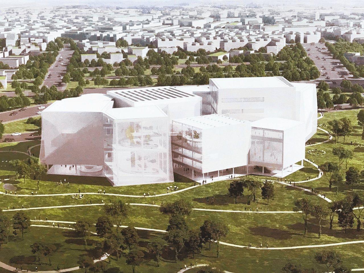 森林中的美術館、圖書館台中綠美圖今天正式動工,日本SANNA建築師事務所設計...