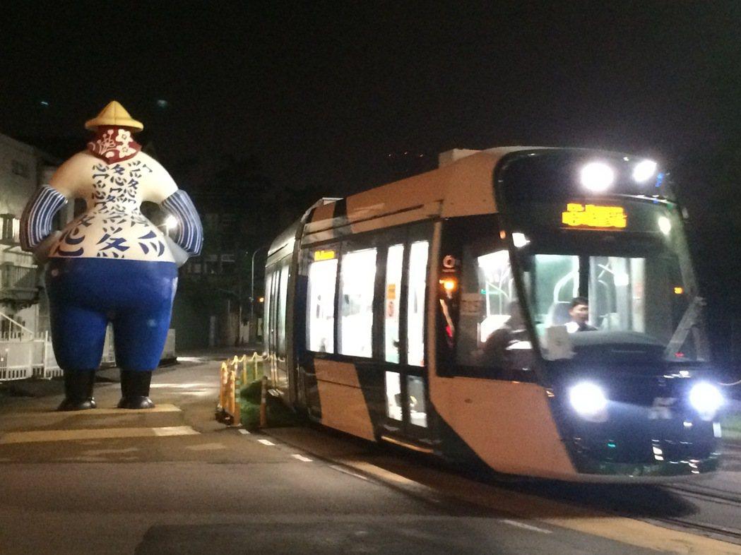 高雄輕軌二階列車將自9月17至19日三天利用夜間非營運時段在籬仔內站~哈瑪星站(...