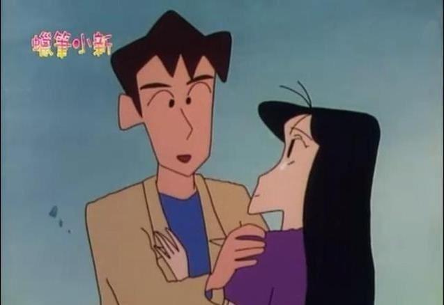 「蠟筆小新」松坂老師曾有一位論及婚嫁男友。 圖/擷自微博