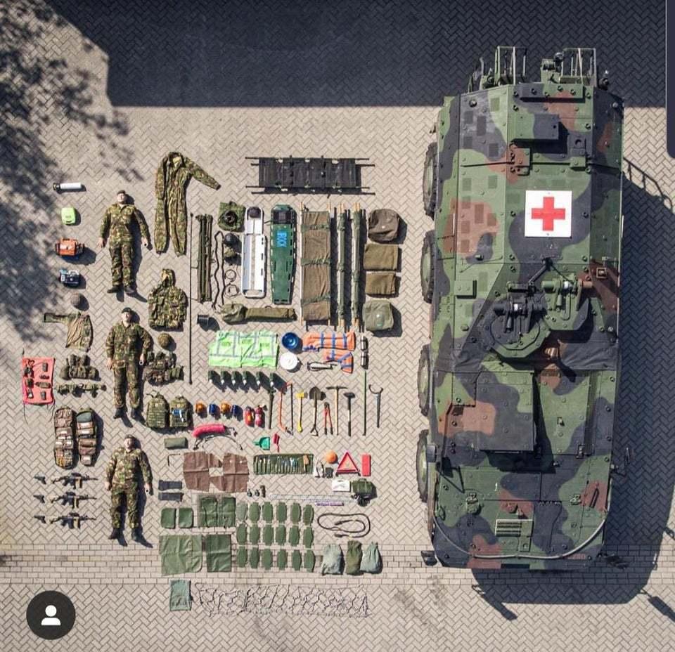 荷蘭皇家陸軍醫療車。 圖片來源/reddit