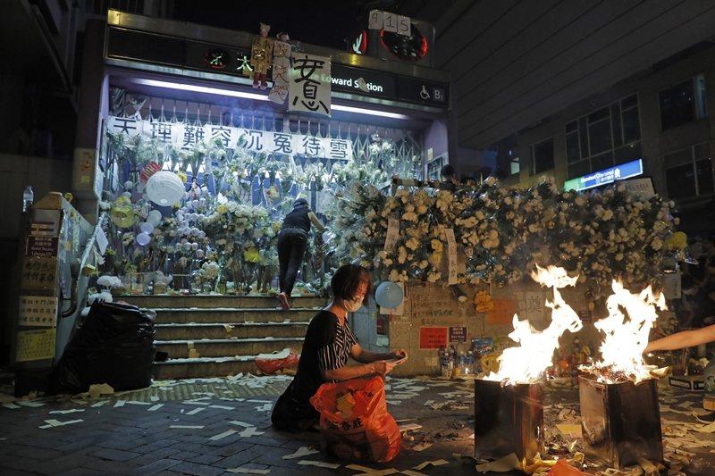 攝於9月13日,香港。 圖/美聯社