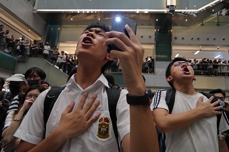 攝於9月11日,香港。 圖/美聯社
