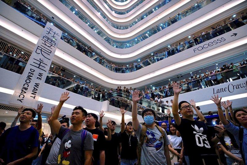 攝於9月12日,香港。 圖/美聯社
