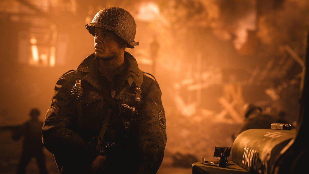 《決勝時刻:二戰》遊戲畫面