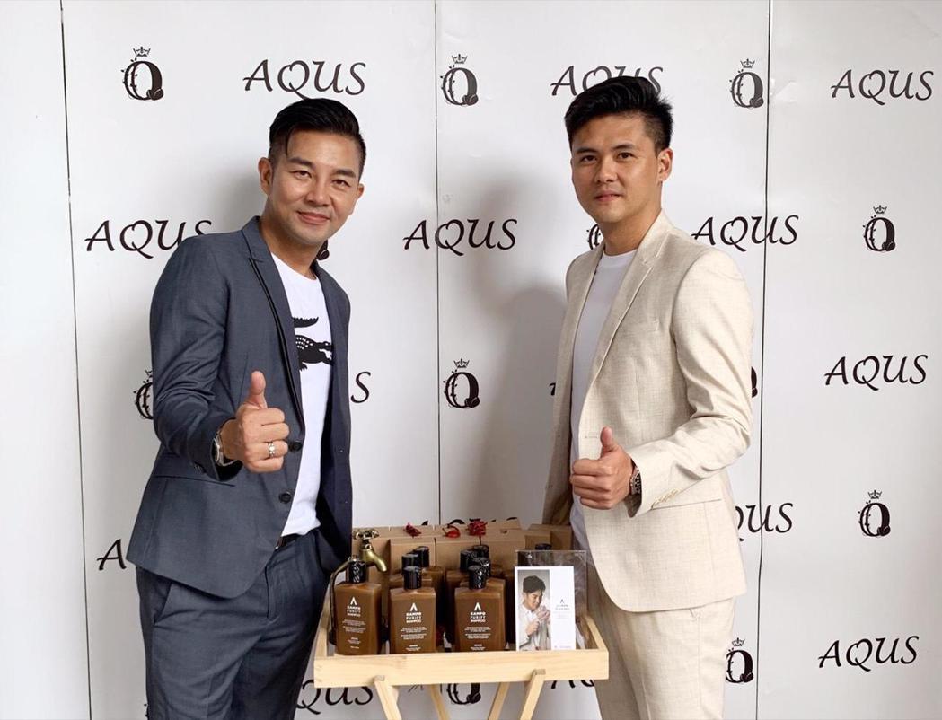 謝承均(左)推出自創品牌加碼做公益。圖/星之國際提供
