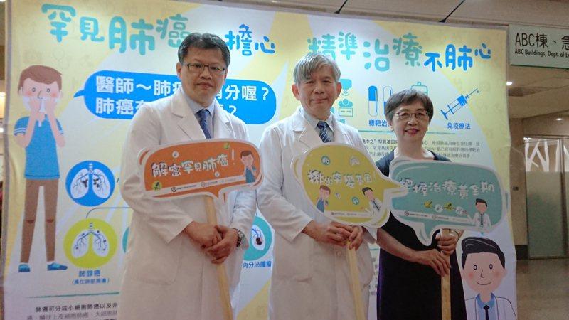 令人聞之色變的肺癌,在醫療上已進展至「精準醫療」階段,高醫與台灣全癌症病友連線合辦衛教展宣導,透過基因檢測對症下藥,就能延長存活期並保有生活品質。記者蔡容喬/攝影