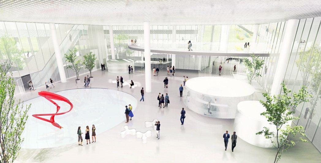 「綠美圖」將是全台灣最大的圖書館與美術館雙館共構的建築場館,也是全台最大單一樓層...