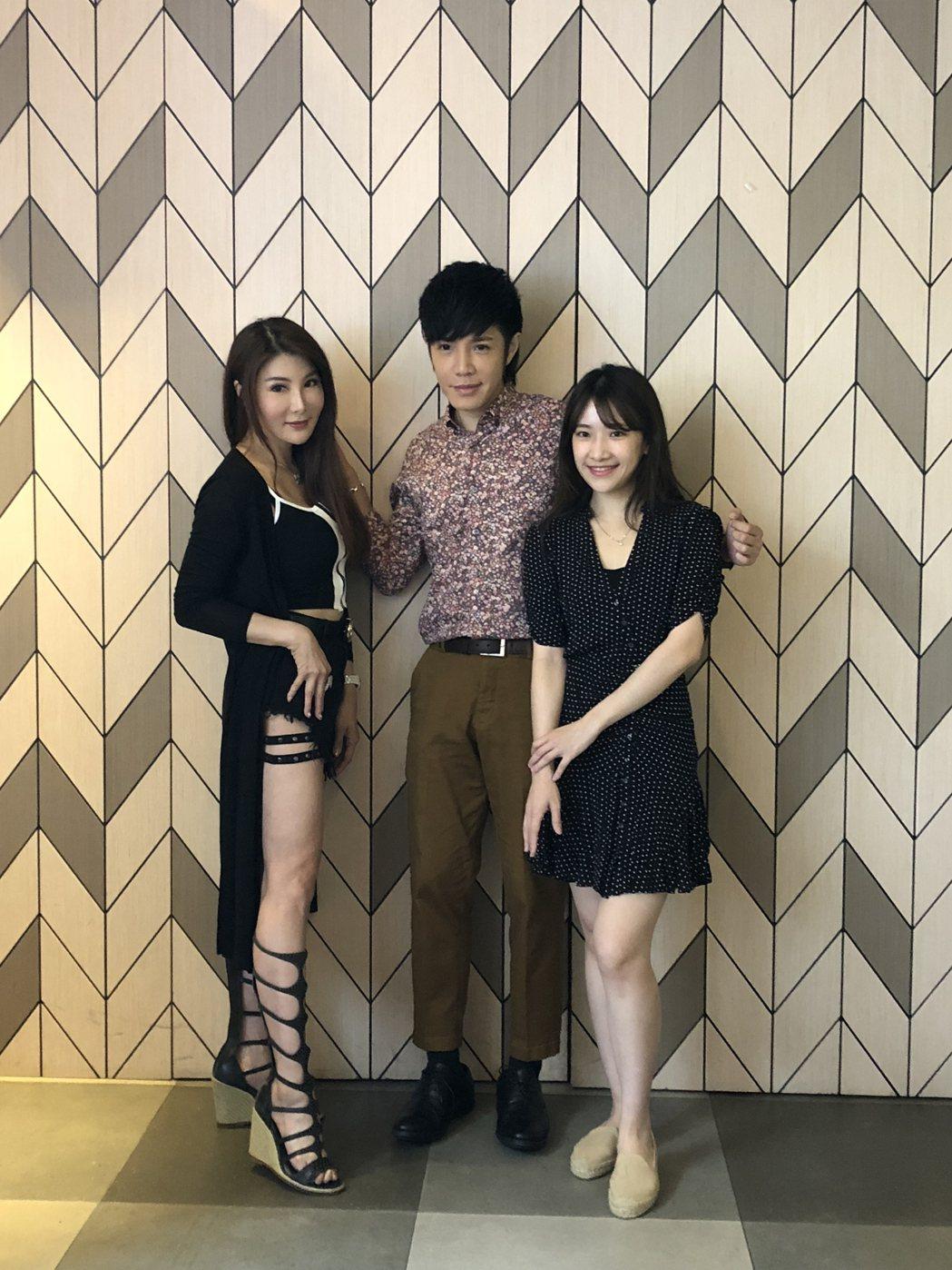 楊麗菁(左)、陳予新(右)爆料童立安很有女人緣。記者林士傑/攝影