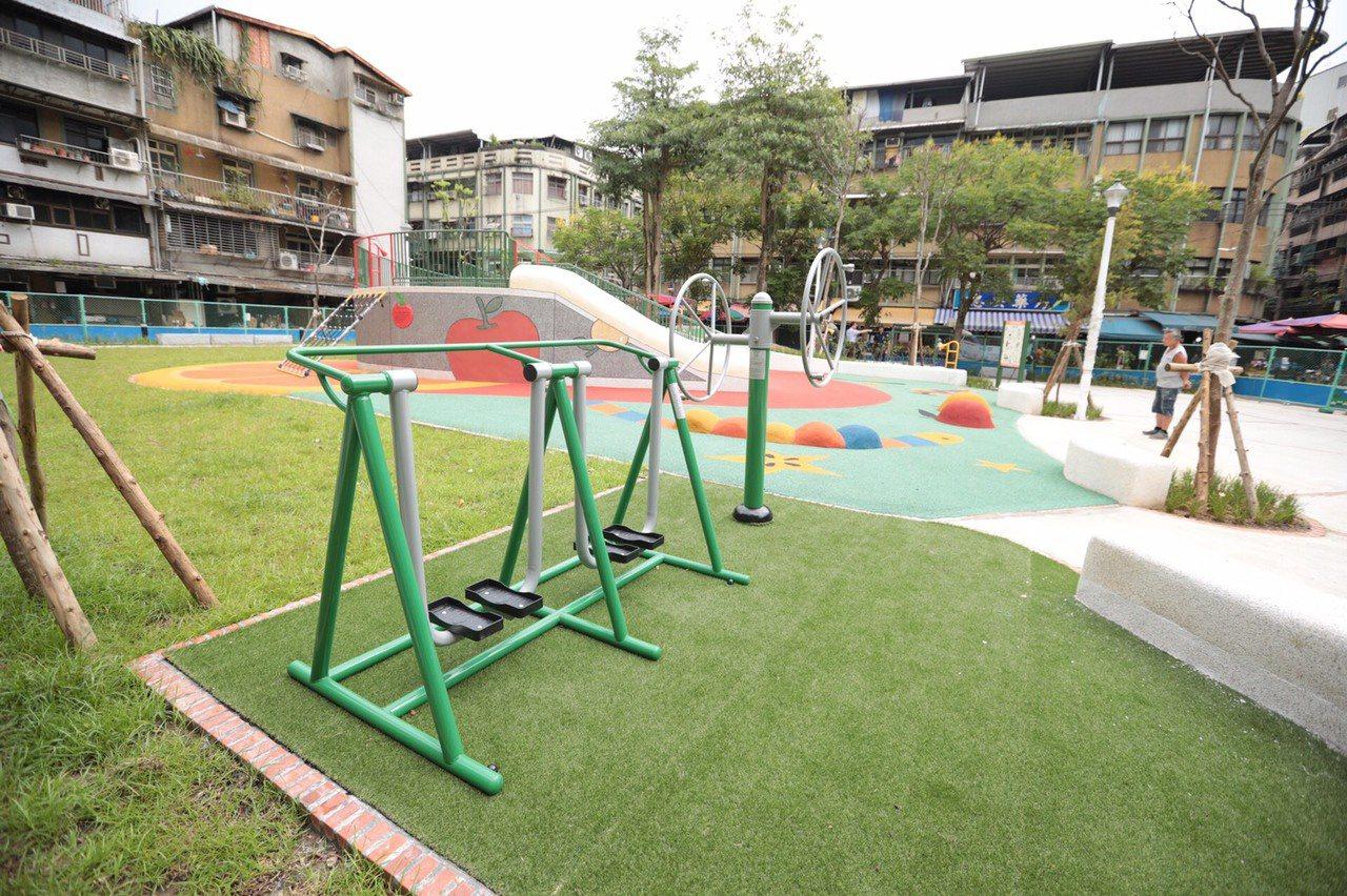 七堵正光公園已煥然一新,近日驗收後就可以開放使用。圖/基隆市政府提供