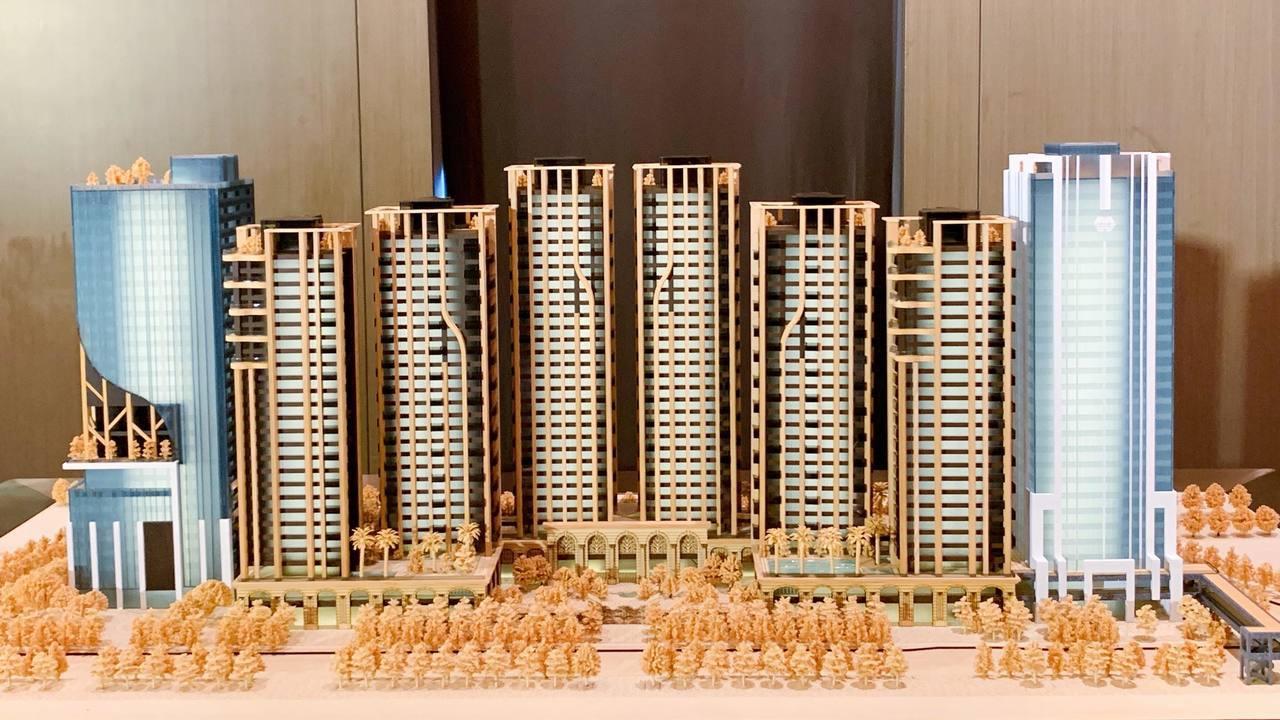 南港指標性建案「世界明珠」預計最快2024年完工。記者徐力剛/攝影