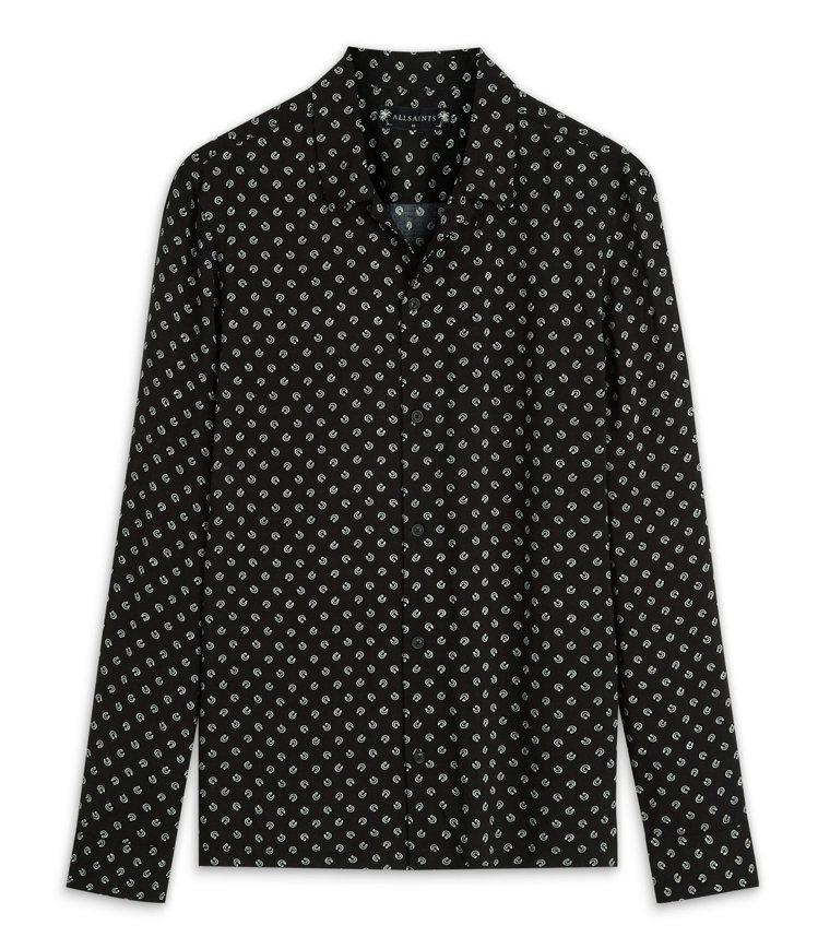 AllSaints台北SOGO復興館百貨獨賣款Lucked印花襯衫4,900元。...