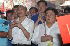 韓國瑜拜廟人氣旺、為何民調冷?他說挺韓3流缺一不可