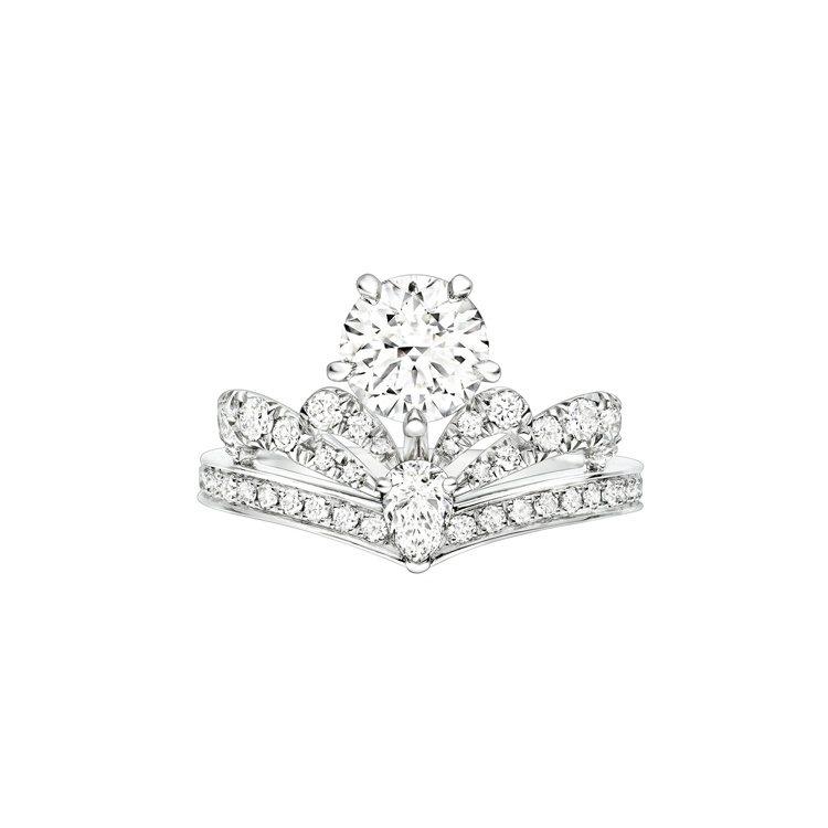 Joséphine Splendeur Impériale單鑽戒指,鑲嵌約2克拉...