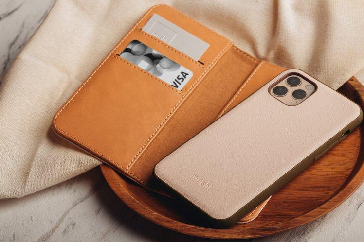 Moshi Overture磁吸可拆式卡夾型皮套,結合SnapTo磁吸功能,讓保...