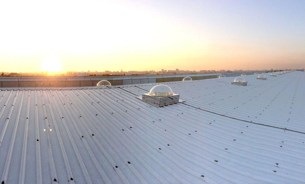 陽昇綠能光導照明系統的白天實績。業者/提供
