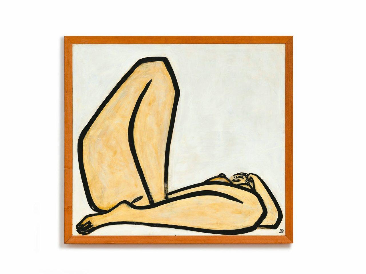 常玉《曲腿裸女》是他最後一件裸女作品,且是122.5x135公分大尺幅,逾半世...