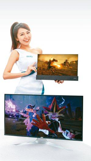 友達UHD4K Mini LED高階電競面板。 圖/友達提供
