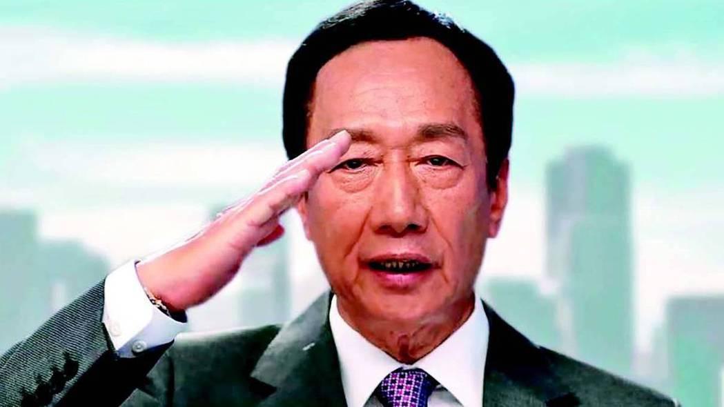 鴻海創辦人郭台銘上午在臉書發表「郭台銘永遠與中華民國同在」影片,表示自己是永遠的...