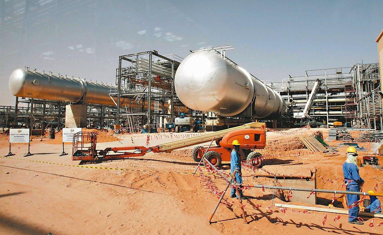 圖為沙烏地阿拉伯石油公司(Aramco)。歐新社資料照