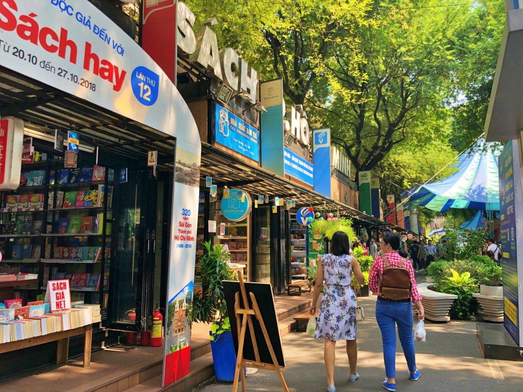 胡志明市的書街景點。記者魏妤庭/攝影