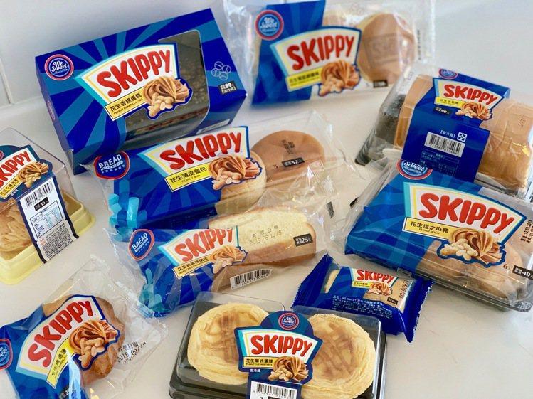 全聯We Sweet與吉比花生SKIPPY聯名推出10款新品。記者張芳瑜/攝影