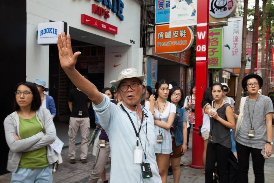 由無家者擔任街遊導覽員,帶領遊客深度走訪西門町。來源:街遊 Hidden Tai...
