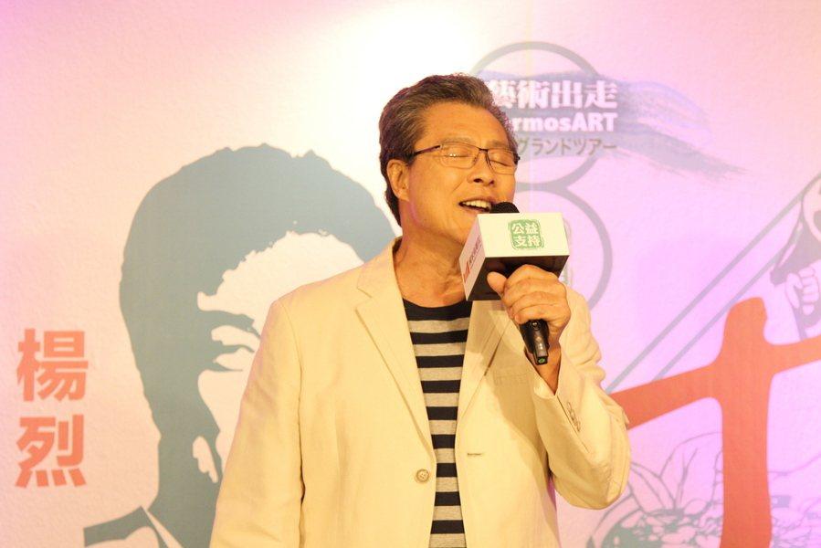 楊烈演唱饒富韻味的日文老歌,將在《十二碗菜歌》中演好唱滿。(photo by 祝