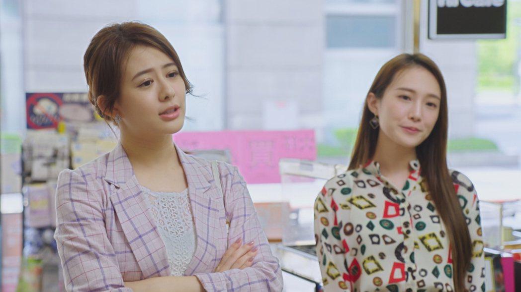 姚亦晴(左)上戲下戲判若兩人,直呼壓力大。圖/台視提供