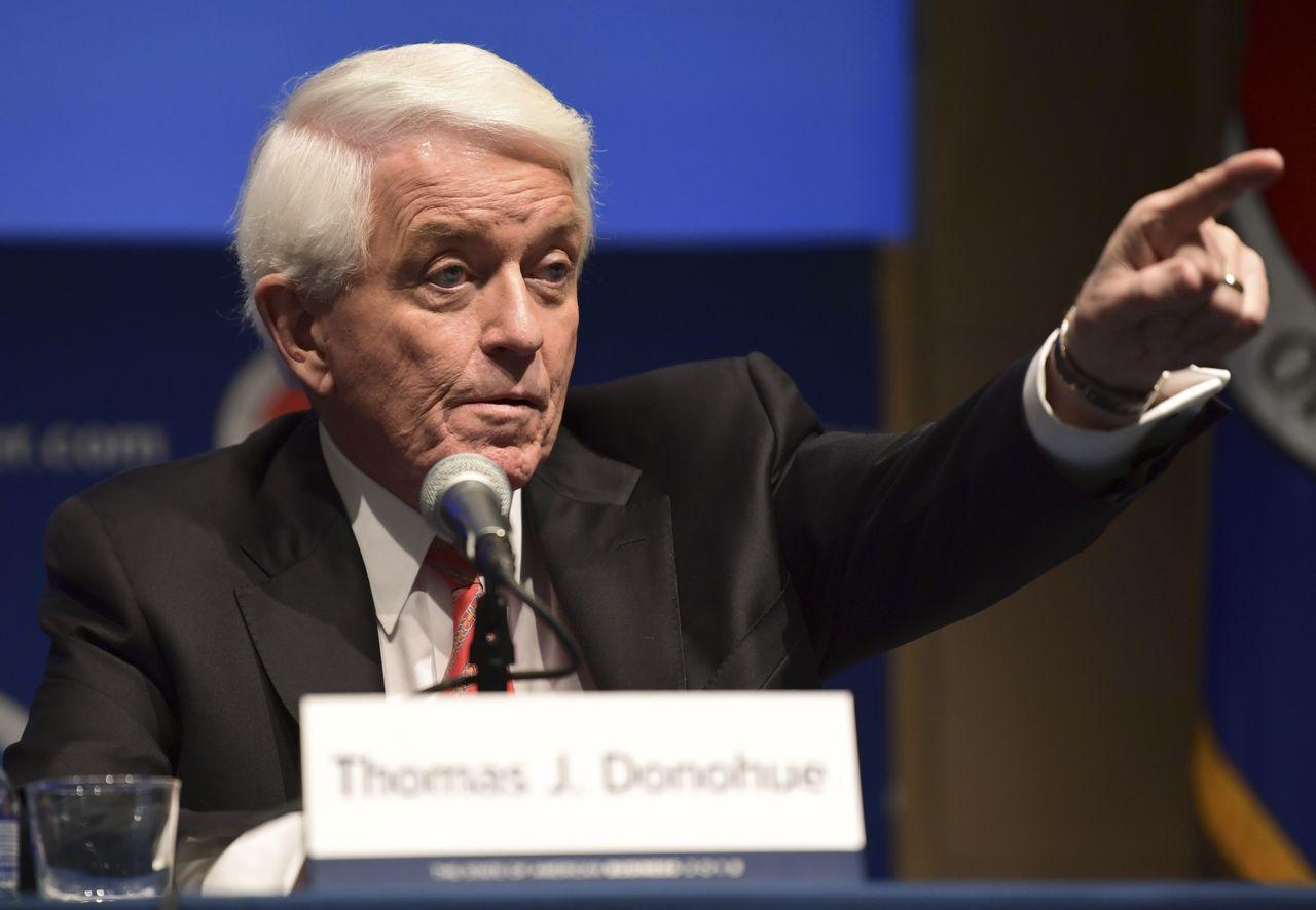 美國商會執行長杜諾惠(Thomas Donohue)。美聯社