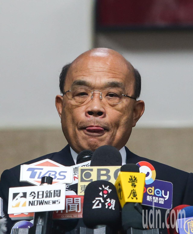行政院長蘇貞昌到立法院準備進行施政報告。記者陳柏亨/攝影