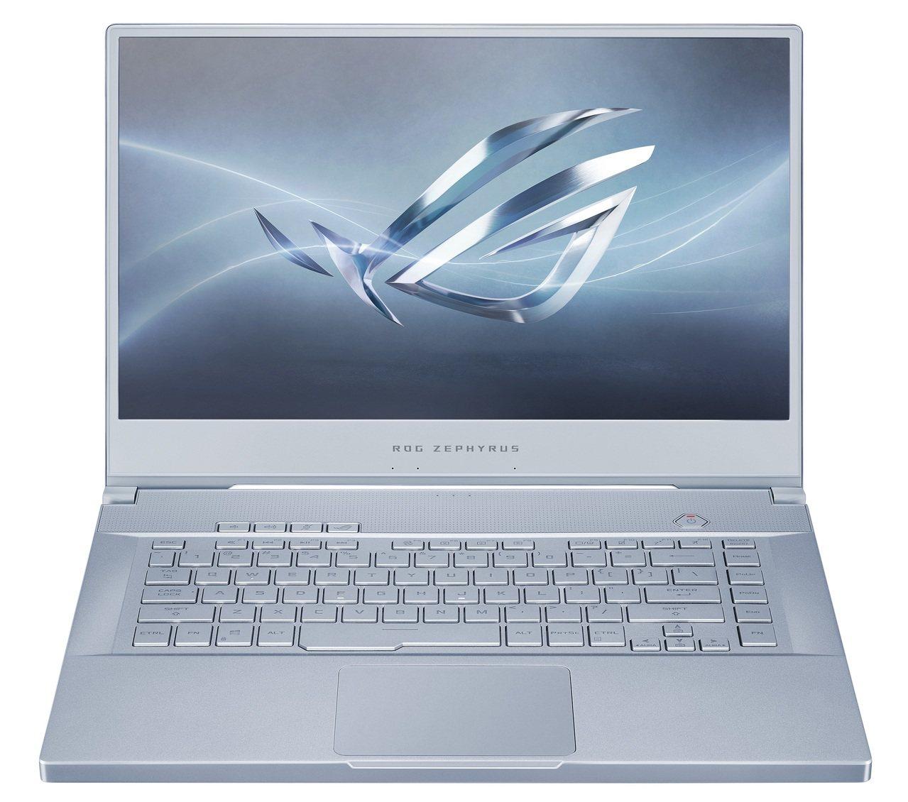 ROG Zephyrus系列電競筆電推出冰河藍新色,顛覆傳統電競風格設計。圖/華...