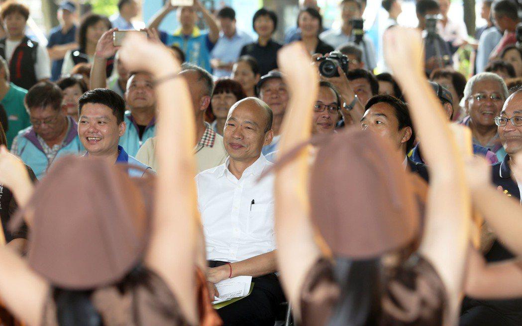 國民黨總統參選人韓國瑜。記者劉學聖 /攝影