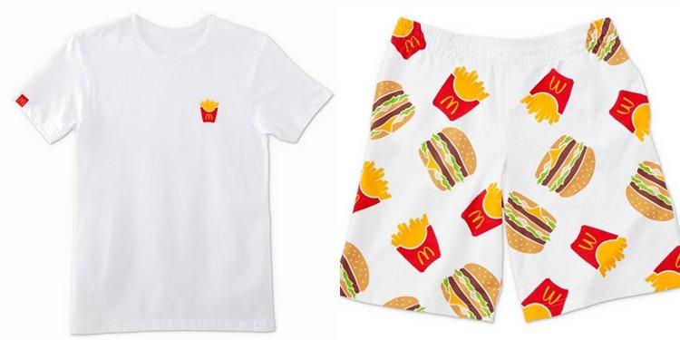 宅在家薯條T、經典吃貨短褲。圖/麥當勞提供