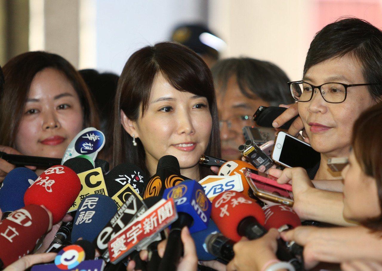 郭台銘陣營發言人蔡沁瑜。聯合報系資料照片/記者陳柏亨攝影