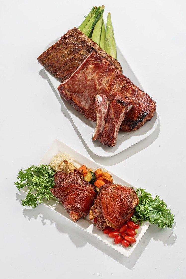 周年慶期間,德國豬腳兩隻600元,豬肋排全面8折。圖/微風集團提供