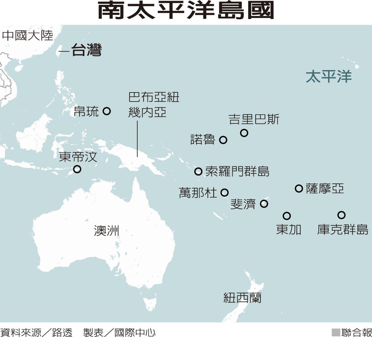 南太平洋島國。資料來源/路透