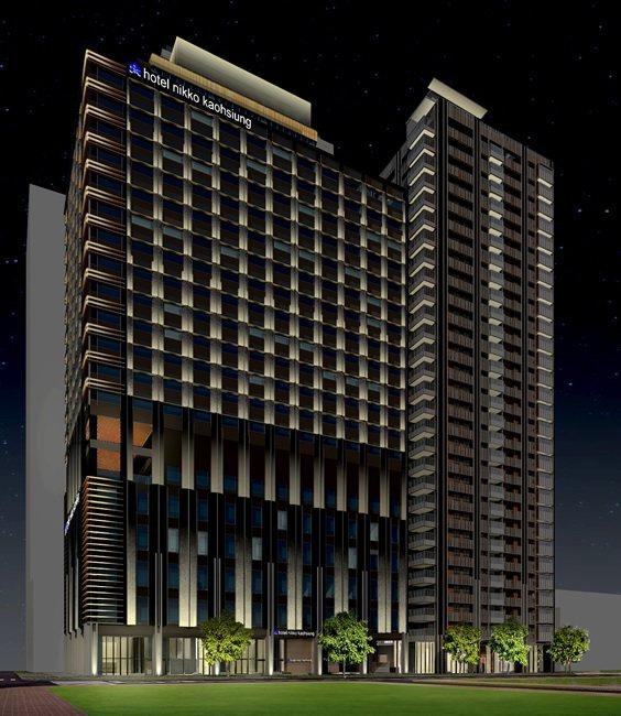 日商開發案規畫興建2棟建築物的夜間模擬圖。圖/高雄市都發局提供