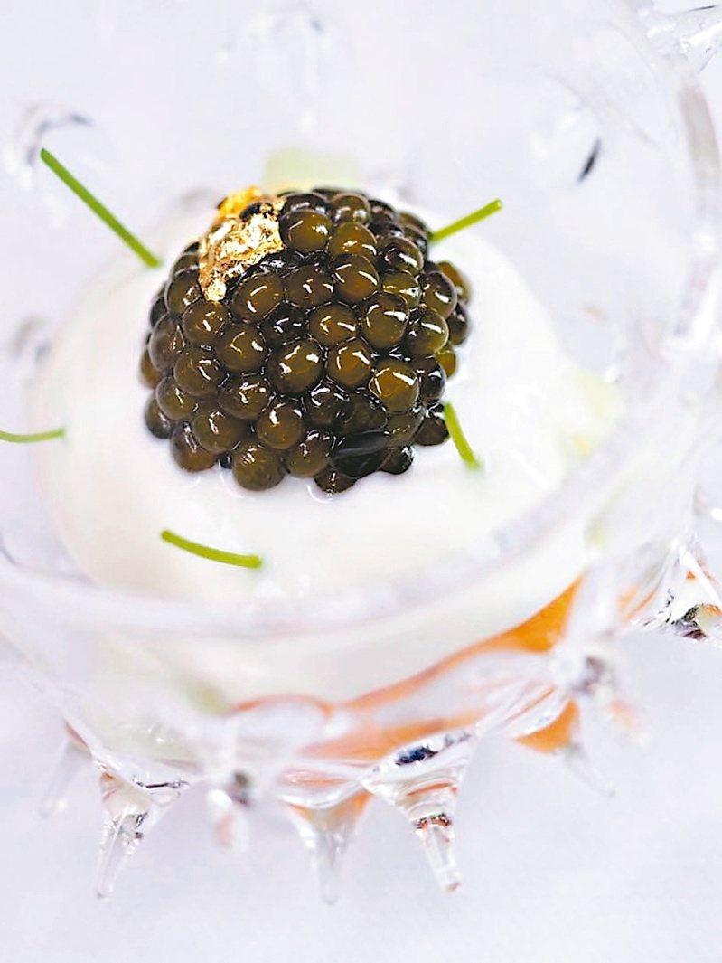 2019亞洲50最佳餐廳第一名Odette創意菜品。圖/Peray Hsiao提供