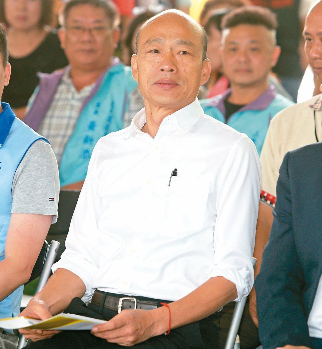 國民黨分裂危機緩解,總統參選人韓國瑜將專心衝刺選情。 記者劉學聖/攝影