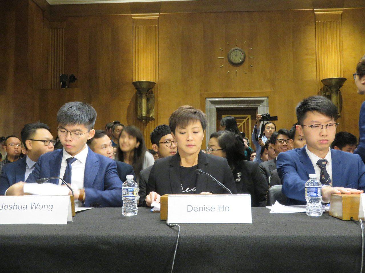 美國國會及行政部門中國問題委員會(CECC)17日舉行香港局勢聽證會,香港眾志秘...