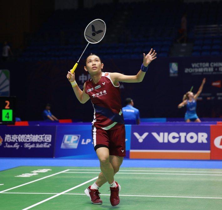 大陸羽賽首戰,戴資穎僅花32分鐘就擊敗馬來西亞的謝抒芽。 圖/Badminton...