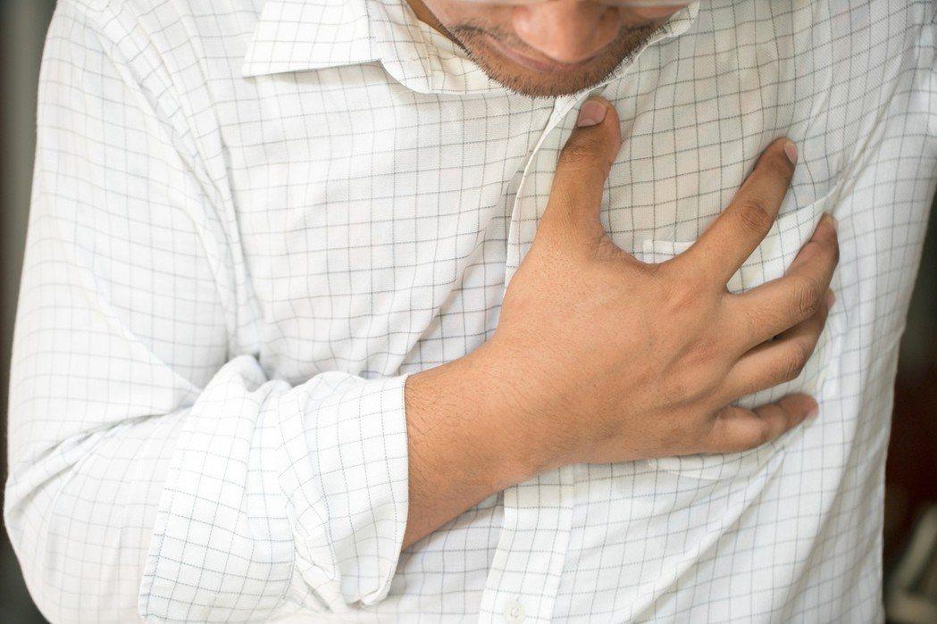 胸痛示意圖。圖/ingimage