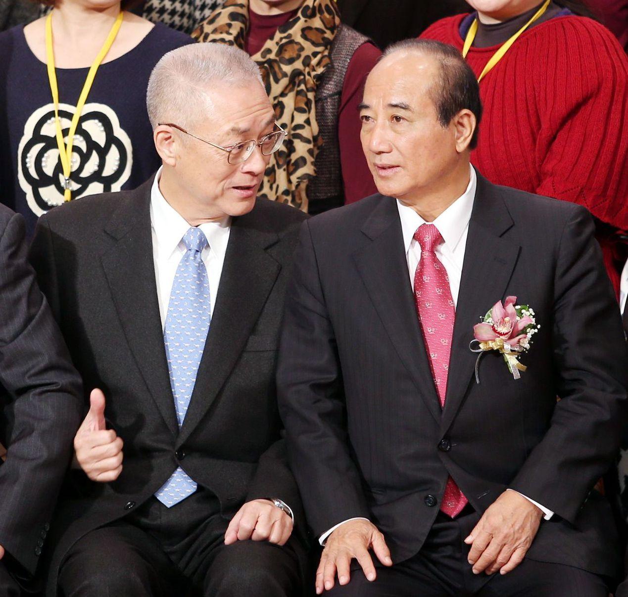 王金平(右)被國民黨開除後,展開司法程序自救成功。 圖/聯合報系資料照片