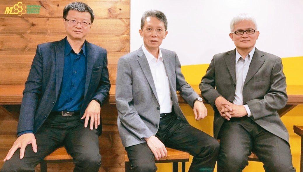 汎銓科技營運長廖永順(左起)、董事長柳紀綸、技術長陳榮欽博士。 圖/汎銓科技提供