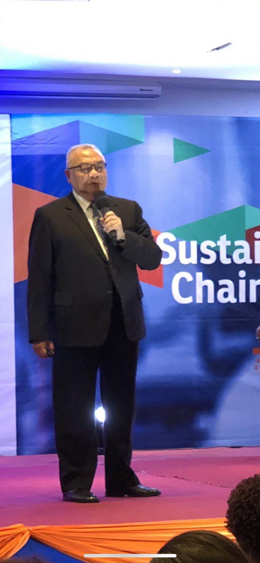 台灣永續供應協會理事長賴樹鑫出席IFPSM世界高峰會議,並以國際理事身分發表演講...