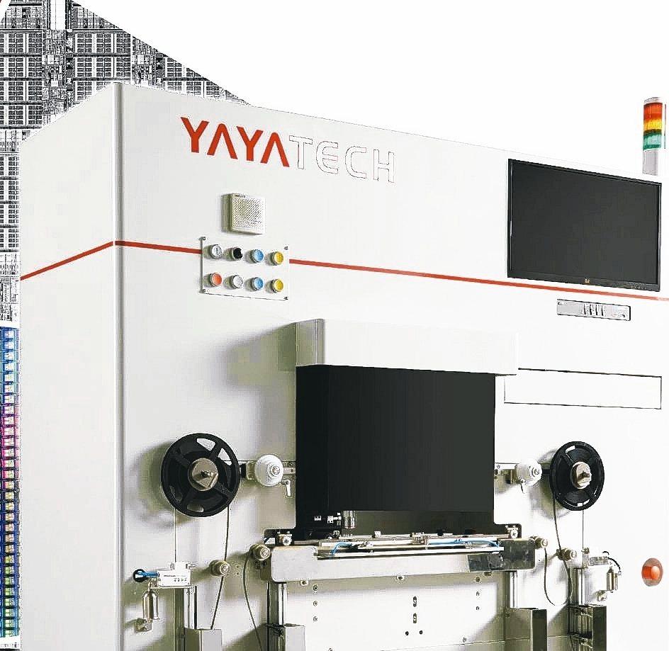 亞亞科技新產品-Reel IR Inspection於半導體展展出。 亞亞科技/...