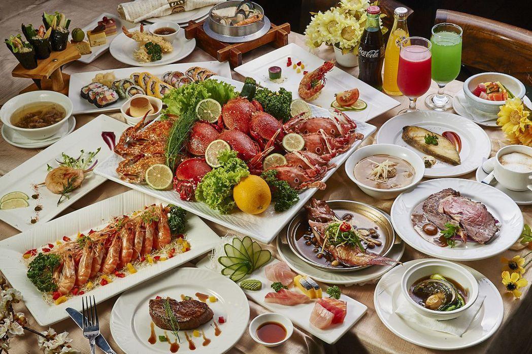 歐式自助餐-澎派海鮮吃到飽。  台南大飯店 提供