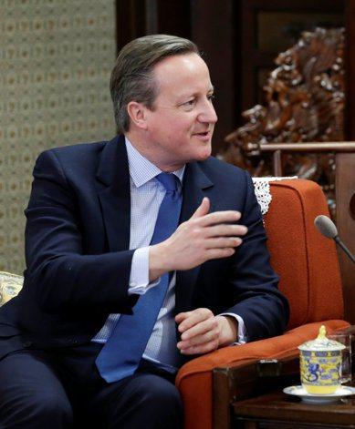 英國前首相卡麥隆表示,強生是騙子,支持歐只為政治利益。 路透