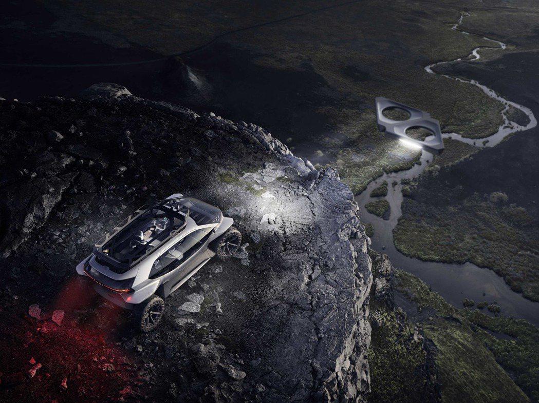Audi Light Pathfinders的五具無人機可在車輛行進中,提前為車...
